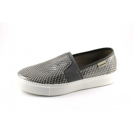 Zapatilla slip-on serpiente elastico