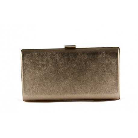 Cartera ante Clutch metalizado